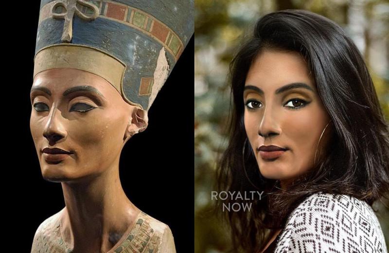 Нефертити и Мария-Антуанетта: дизайнер показал, как они выглядели бы сейчас