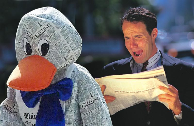 Почему мы так говорим: «газетная утка»