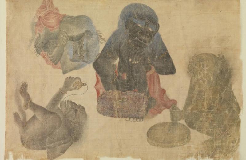 Древнейшее изображение гориллы за пределами Африки нашли на шелковой миниатюре