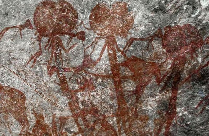 В Танзании нашли наскальный рисунок с загадочными антропоморфными существами