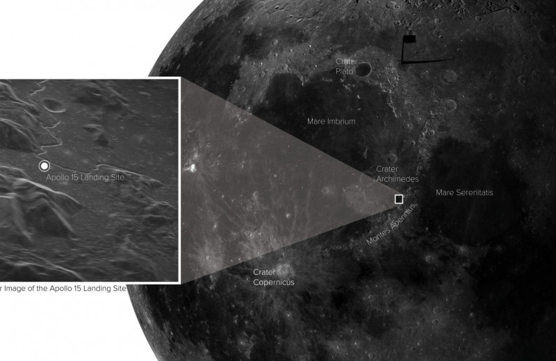 Наземный телескоп снял Луну в высочайшем разрешении