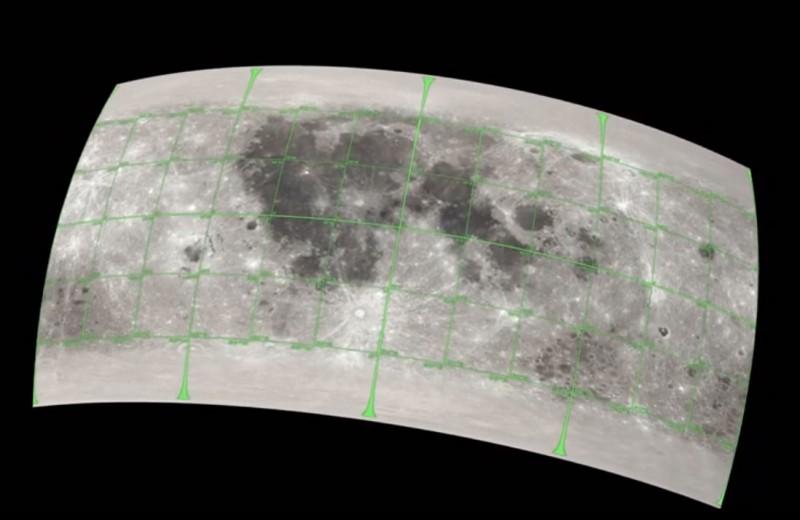 Создана 3D-карта Луны