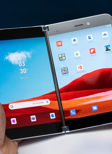 Шесть лет споров: зачем Microsoft сделала Android-смартфон с двумя экранами в мире, где все устройства одинаковые
