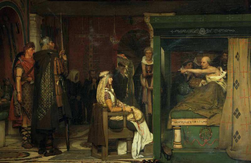 Фредегонда у одра епископа Претекстата