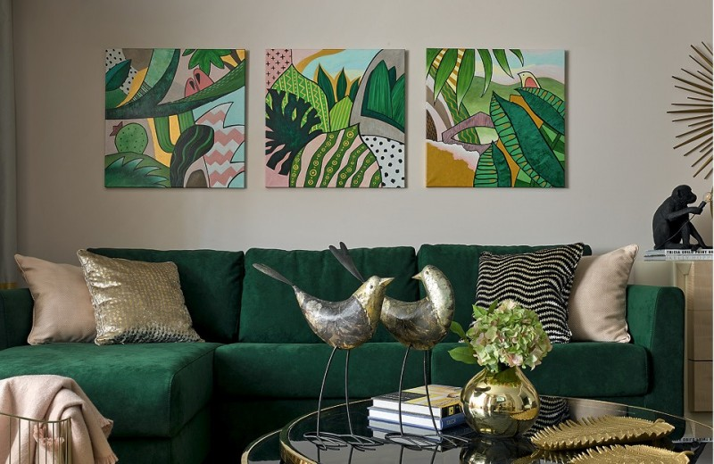 Квартира с тропическим настроением