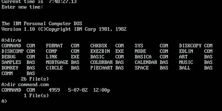 MS-DOS: первая ОС для ПК