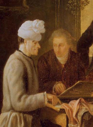 Вольтер, играющий в шахматы с отцом Адамом