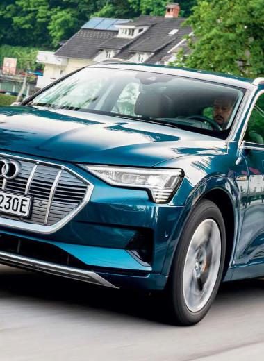 Audi e-tron. Зарядка раз в неделю