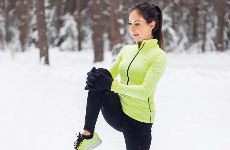 Фитнес на снегу