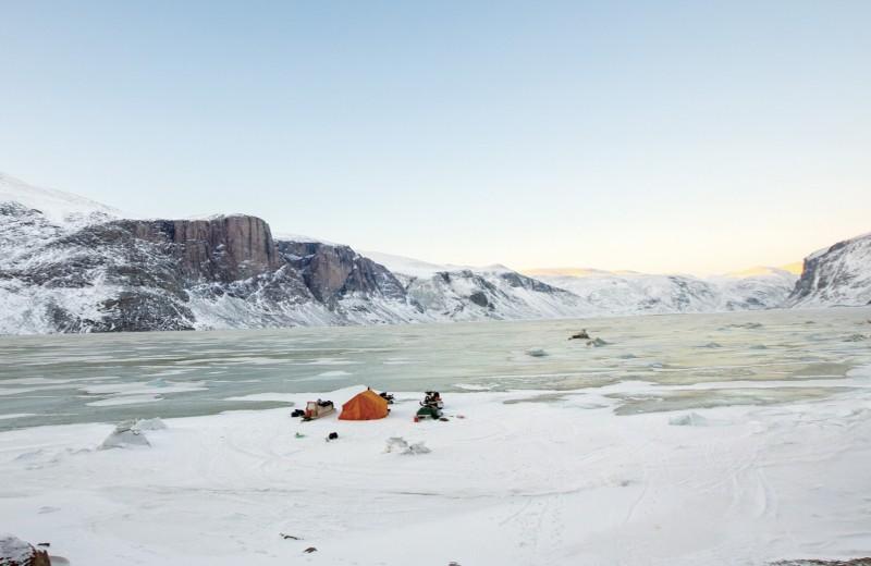 В палатке на АРК