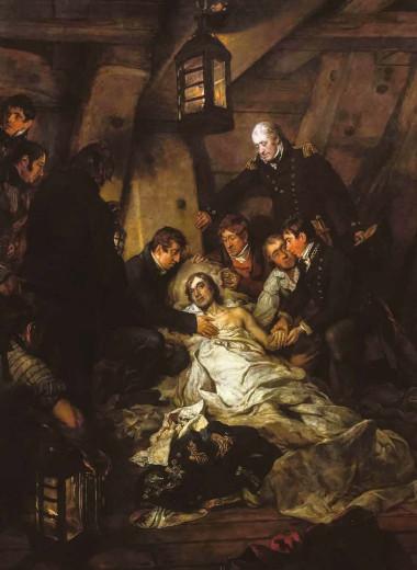 Смерть Нельсона 21 октября 1805 года