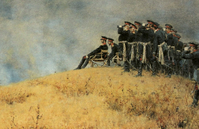Александр II под Плевной 30 августа 1877 года