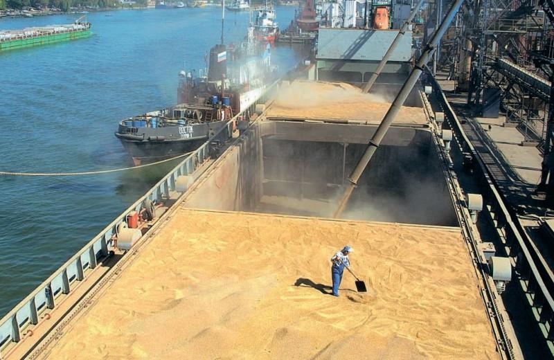 Зерно уплывает за рубеж рекордными темпами