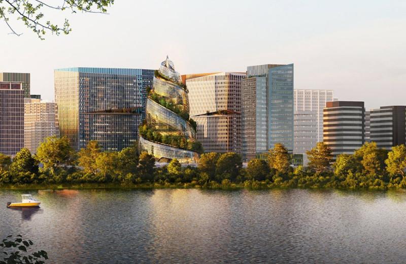 Amazon представила свой новый офис – теперь это спираль