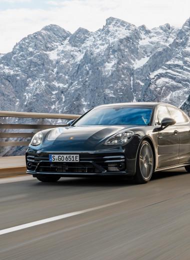 Porsche Panamera Turbo S E-Hybrid и Cadillac XT4