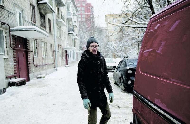 День в фургоне с городскими отходами