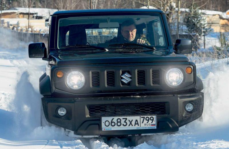 Suzuki Jimny в роли снегохода