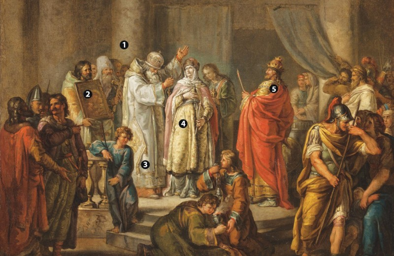 Крещение княгини Ольги в Константинополе