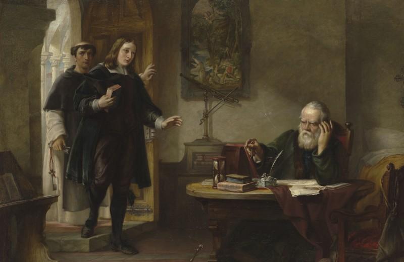 Мильтон, посещающий заточённого инквизицией Галилея