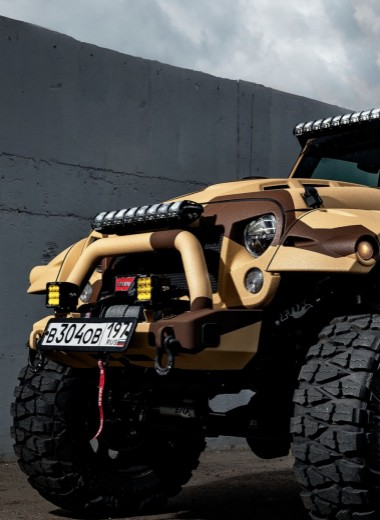 На топовых брендах. Как превратить немолодой Jeep Wrangler в арт-объект