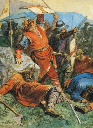 Смерть ОлафаII в битве приСтиклестаде