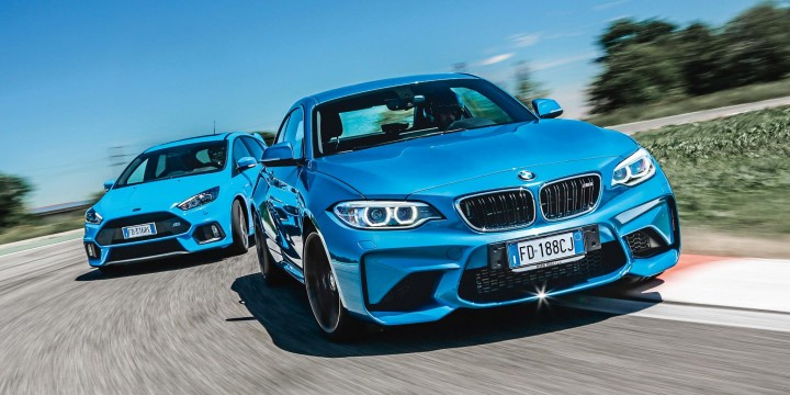 BMW M2 против Ford Focus RS