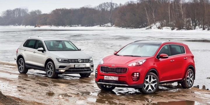 Volkswagen Tiguan и Kia Sportage