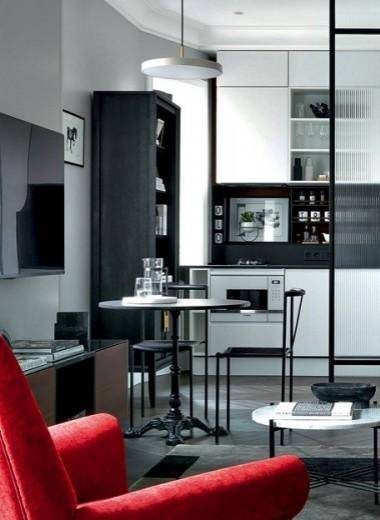 Классическая квартира со скандинавской мебелью, 50 м²
