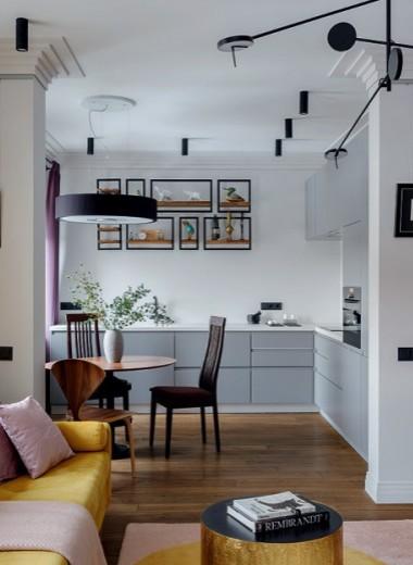 Яркая квартира с эркером, 58 м²