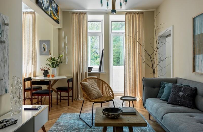 Квартира с богемной обстановкой, 63 м²