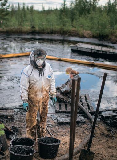 По нефтяным разливам пройдутся «стиральной машиной»