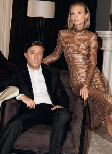 Юлия, Сергей и Арина Матвиенко