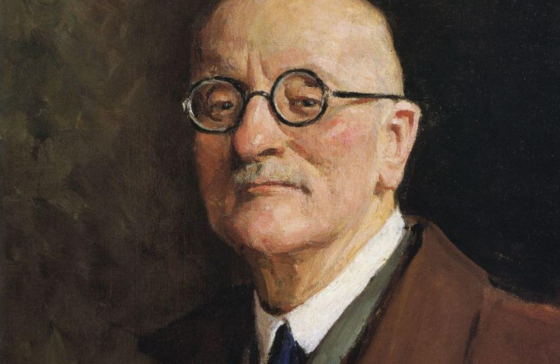 Портрет художника на фоне другого художника