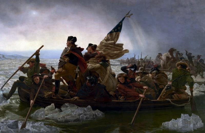 Вашингтон переправляется через Делавэр