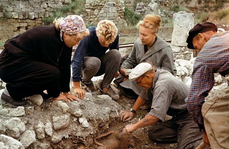 На раскопках древнего Херсонеса